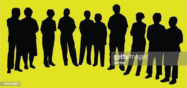 group of adults, silhouette, vector - rastafarian stock illustrations, clip art, cartoons, & icons