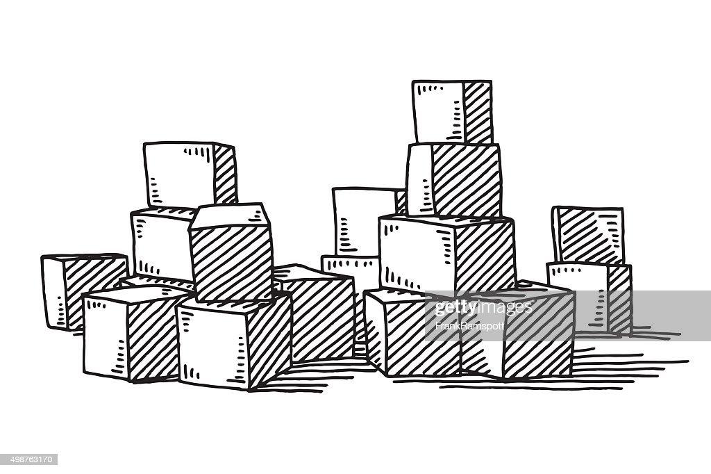 Groupe De Composants De Tirage Illustration