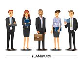 Group of Business People meeting on a Cafe,Vector illustration cartoon character