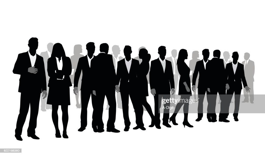 Group Of Business People : Stock Illustration