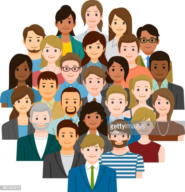 group of business people - diversity stock illustrations