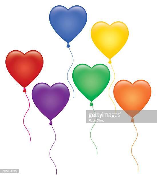 グループのカラフルな中心 Ballons