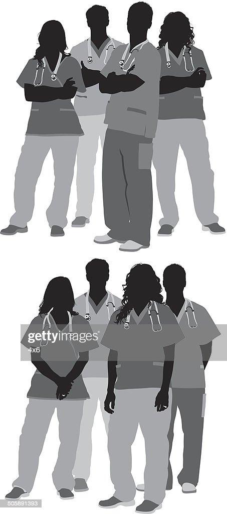 Grupo de médicos : Ilustración de stock