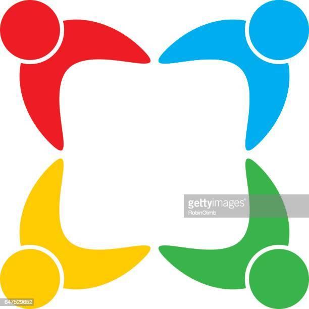Groep van vier mensen pictogram