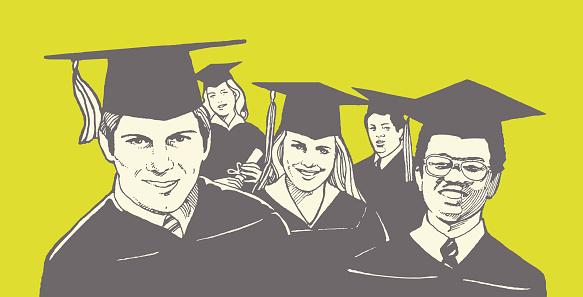 Group of Graduates - gettyimageskorea