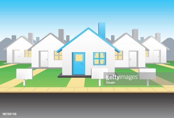 group of houses - large group of objects stock illustrations