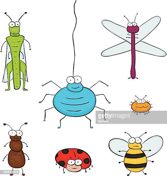 group of insect - computer bug stock illustrations
