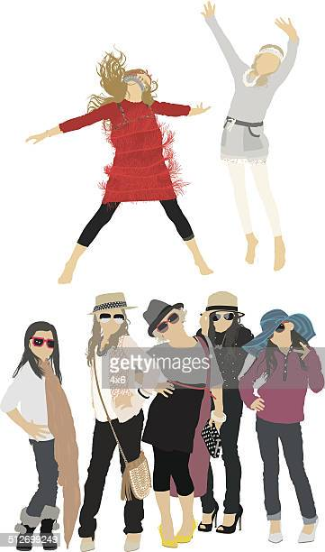 Group of little girls