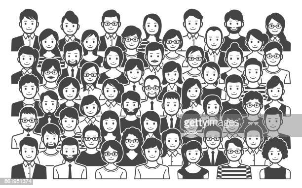 group of people - political crowd stock illustrations