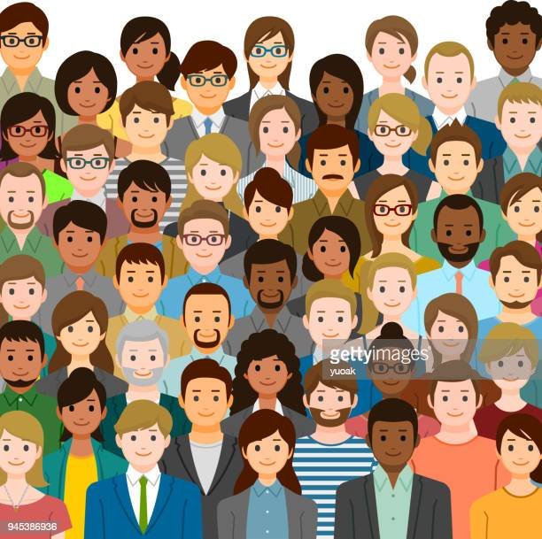 group of people - ethnicity stock illustrations
