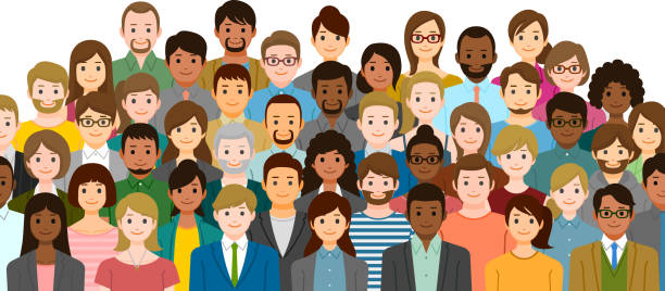 group of people - cartoon stock illustrations