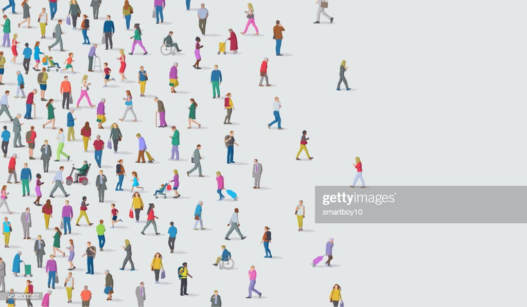 Group of People : stock illustration