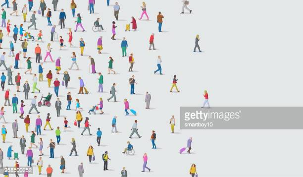 group of people - diversity stock illustrations