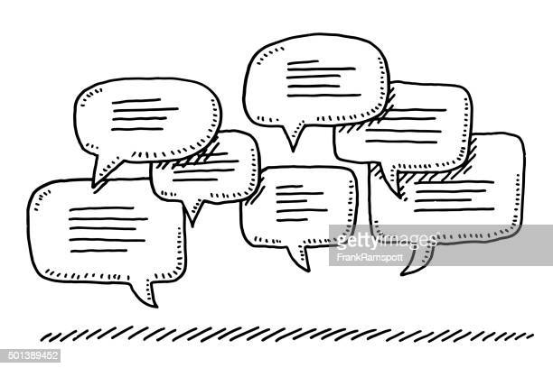 Group Of Speech Bubbles Drawing