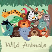 group of wild animals gathering