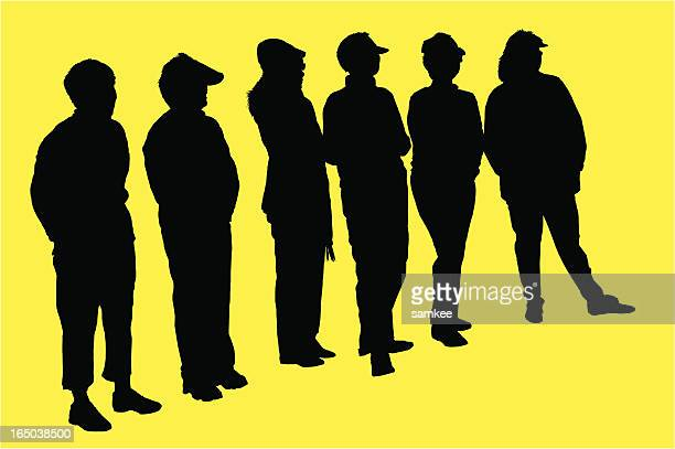 group of women, Silhouette, vector