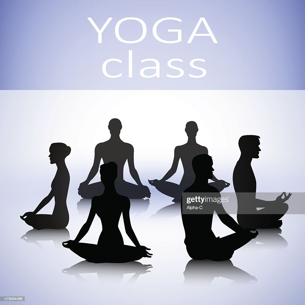 Group of yoga people