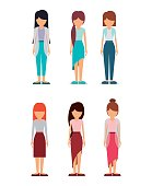 group of young women design