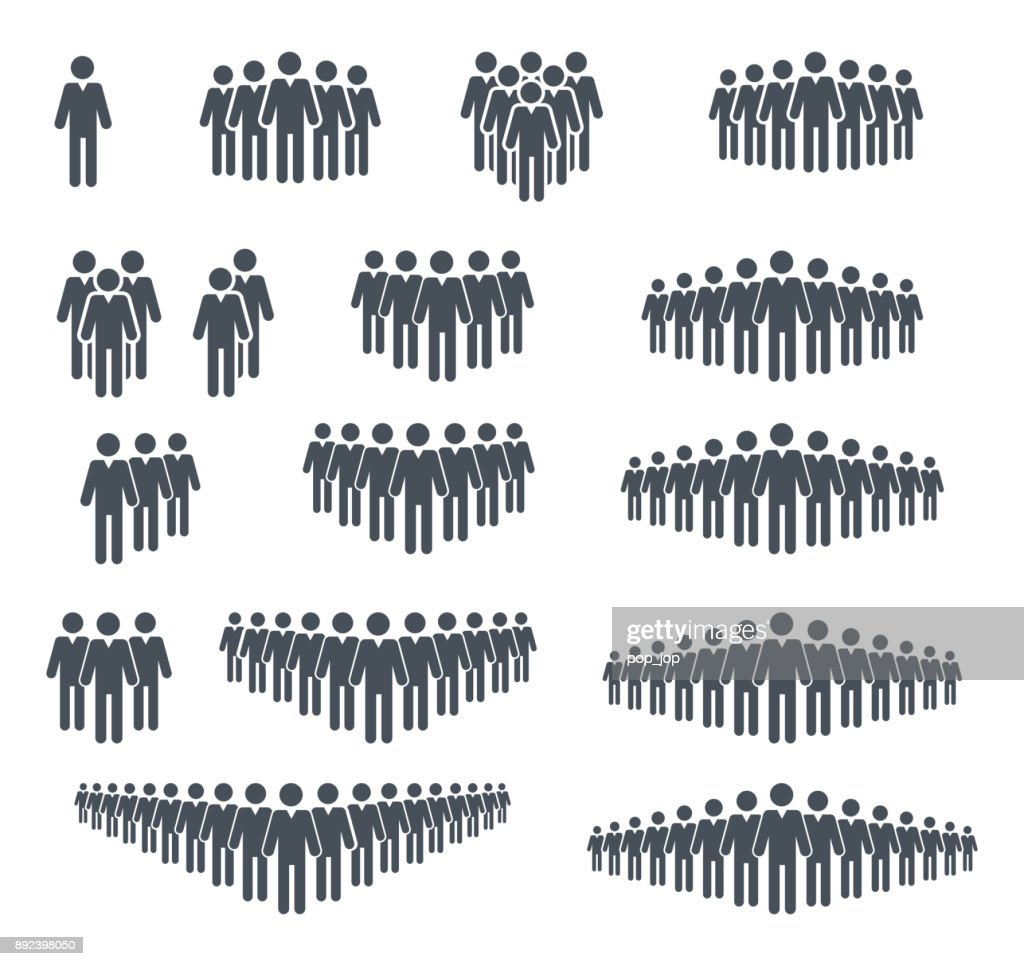 Group og people icon set. Crowd signs. Vector illustration. Isolated on white background : stock illustration