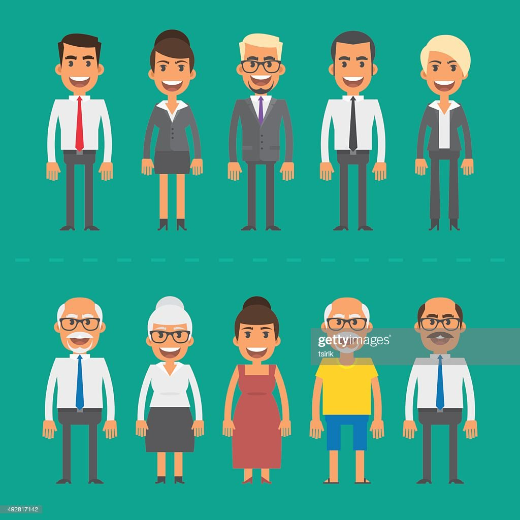 Group people businessmen and businesswomen