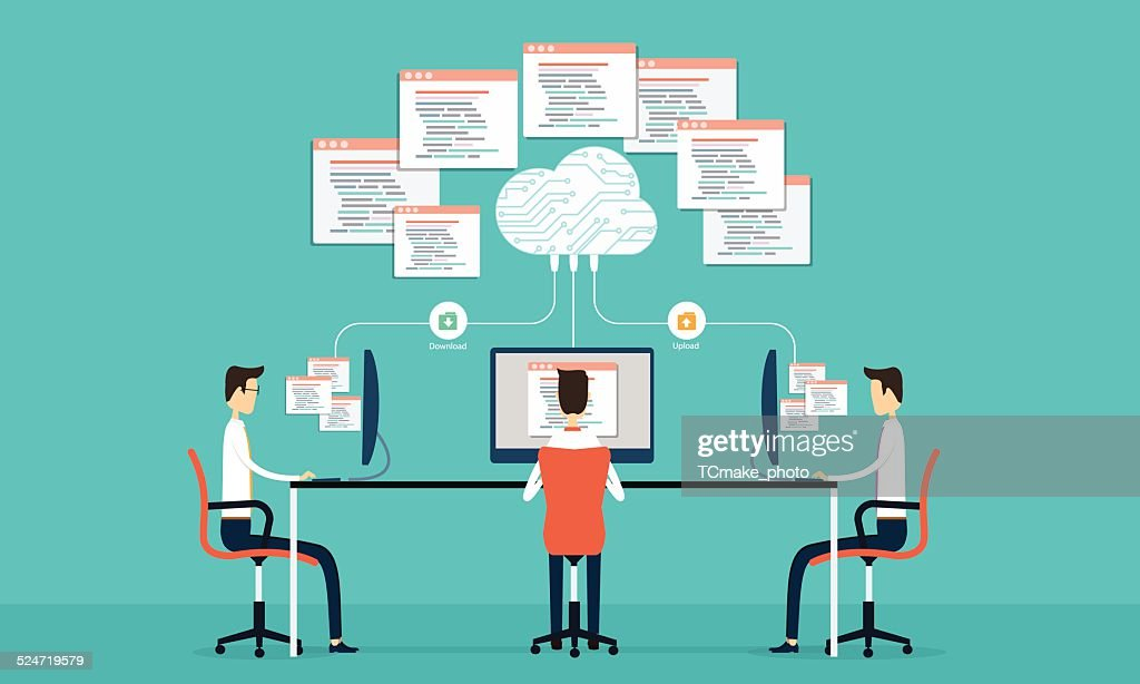 Group programing develop web and application on cloud net work