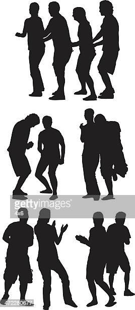 groups of people dancing - conga dancing stock illustrations, clip art, cartoons, & icons