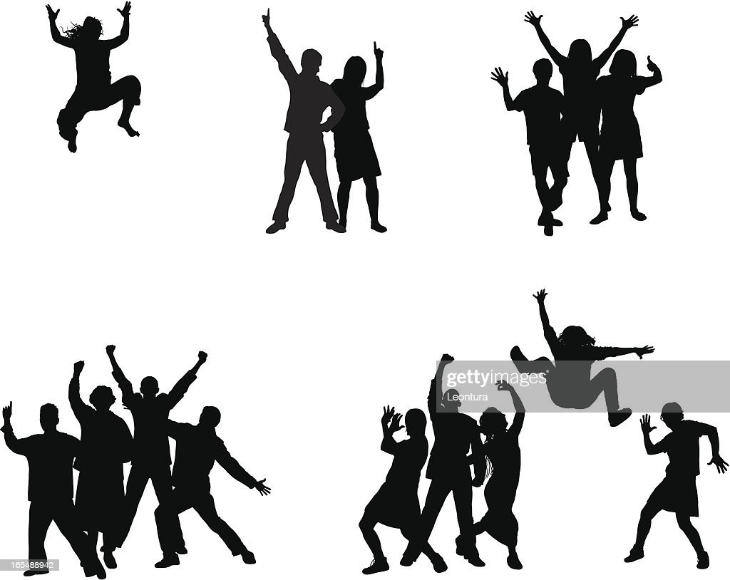Groups (Each Person is Complete and Moveable) : stock illustration