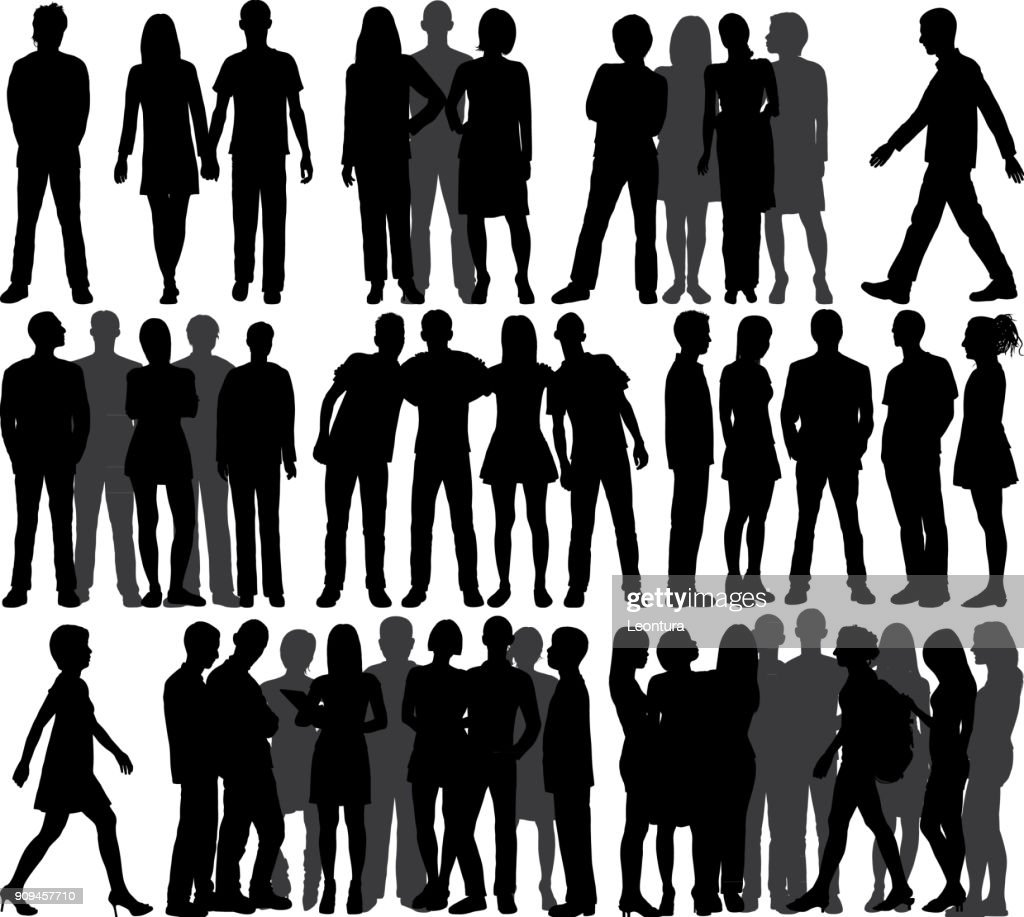 Groups (All People Are Complete and Moveable) : stock illustration