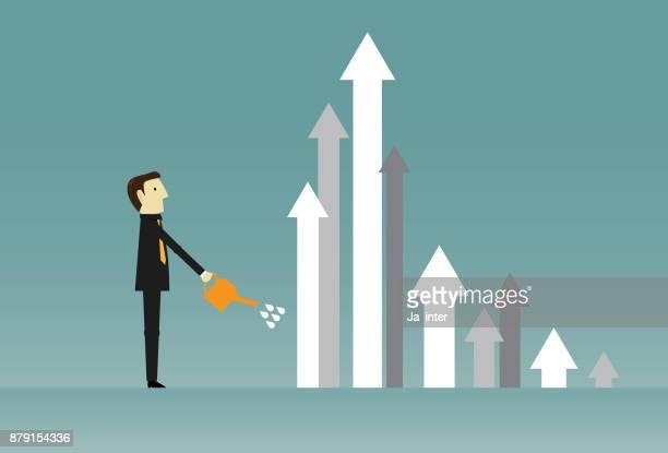 Growing arrow & Business
