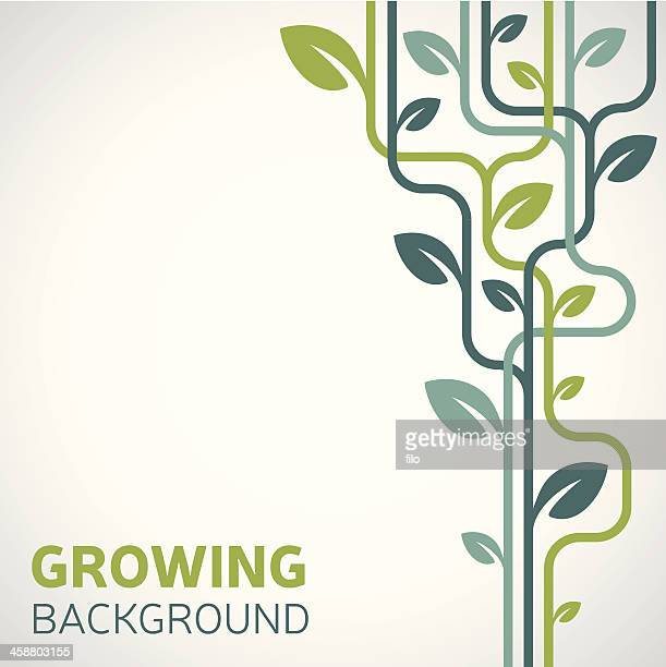 growing background - growth stock illustrations
