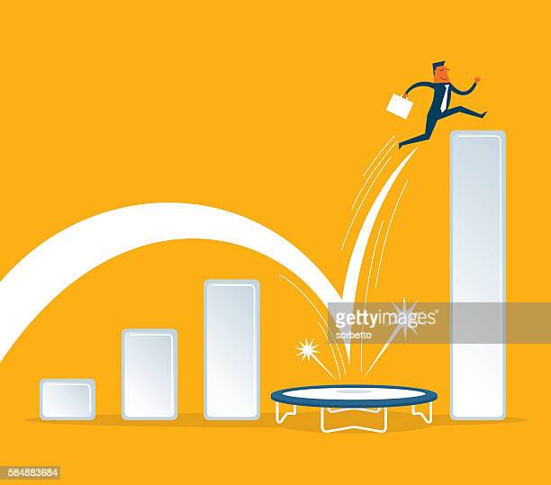 growing business - sales occupation stock illustrations