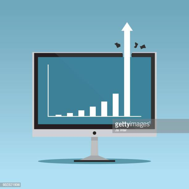 Growing graph on monitor