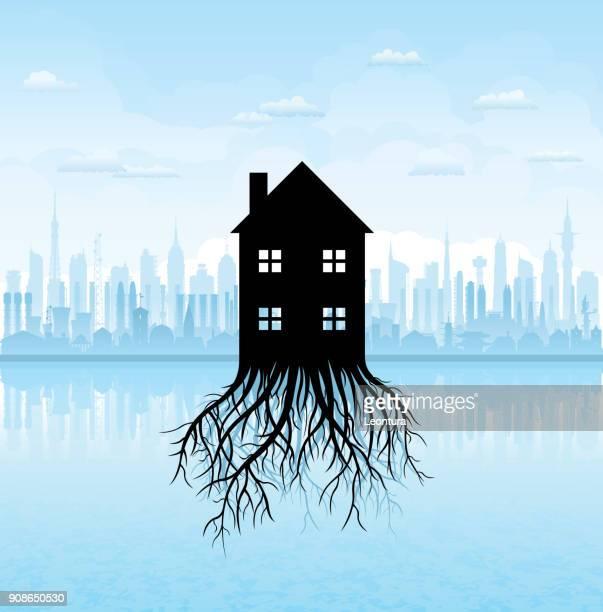 growing housing market - ancestry stock illustrations, clip art, cartoons, & icons