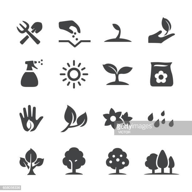 growing icons - acme series - tree stock illustrations, clip art, cartoons, & icons