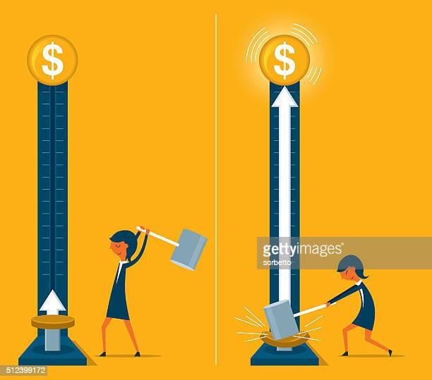 ilustrações, clipart, desenhos animados e ícones de crescente de dinheiro - negócios finanças e indústria
