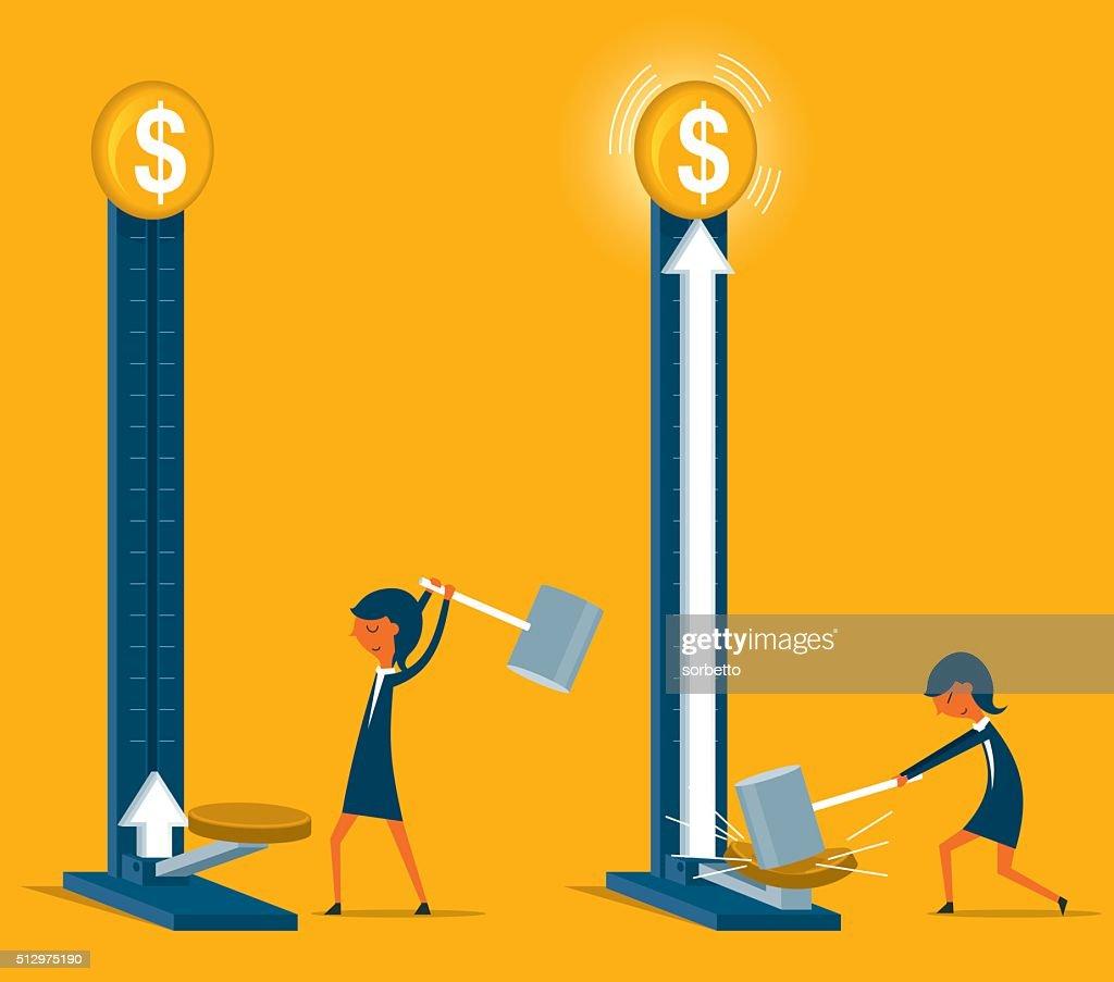 Growing Money : stock illustration