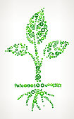 Growing Plant Nature and Environmental Conservation Icon Pattern