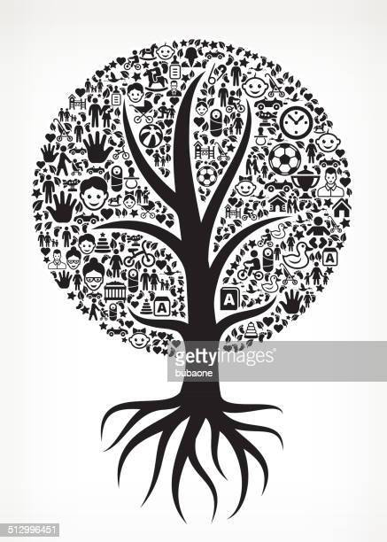 Growing Tree Family royalty free vector arts