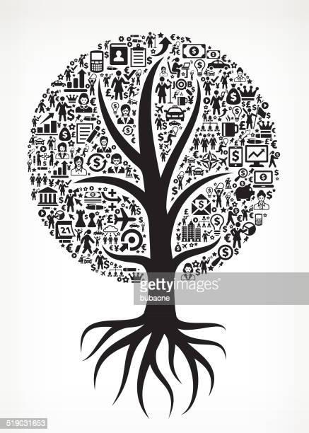 Crescendo albero donna d'affari di arte vettoriale royalty-free