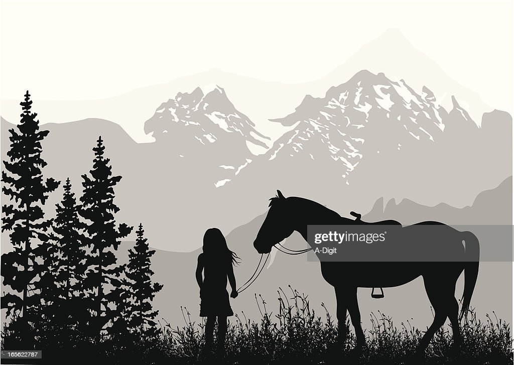 Growing Up Vector Silhouette : stock illustration