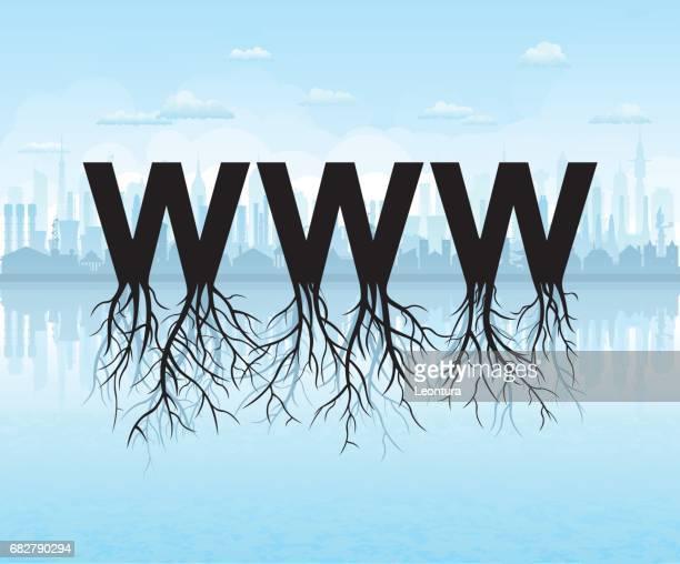 ilustrações, clipart, desenhos animados e ícones de crescendo na web - www