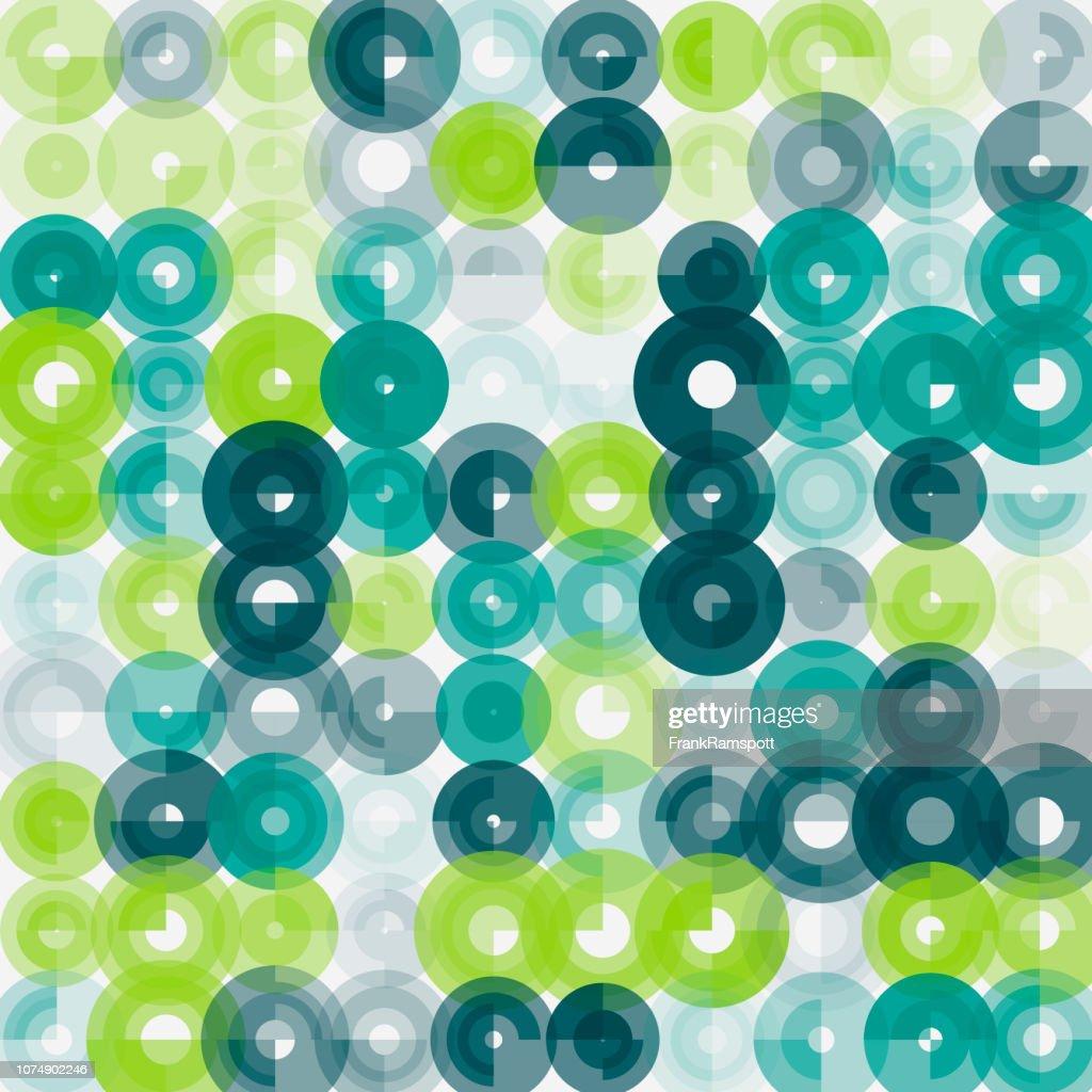 Wachstum-abstrakten Kunst Kreismuster : Vektorgrafik