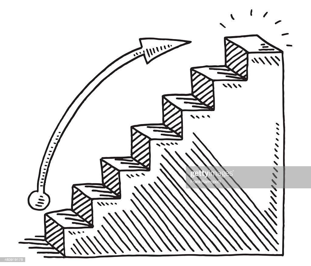 growth business bar chart drawing vector art