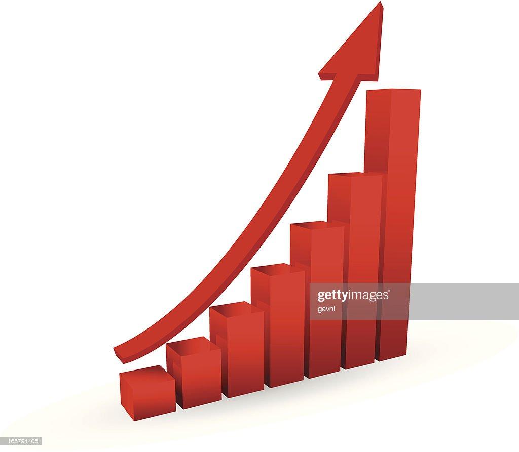 Growth Chart : stock illustration