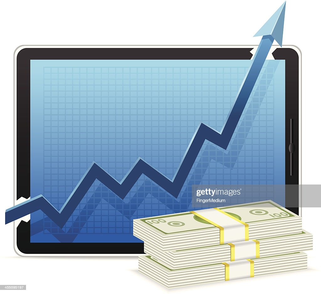 Growth Chart With Money Vector Art Getty Images