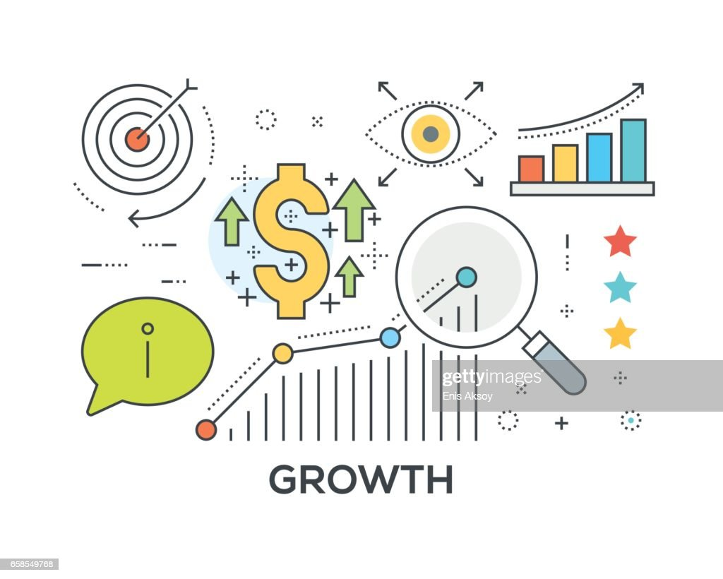 Growth Concept with icons : stock illustration