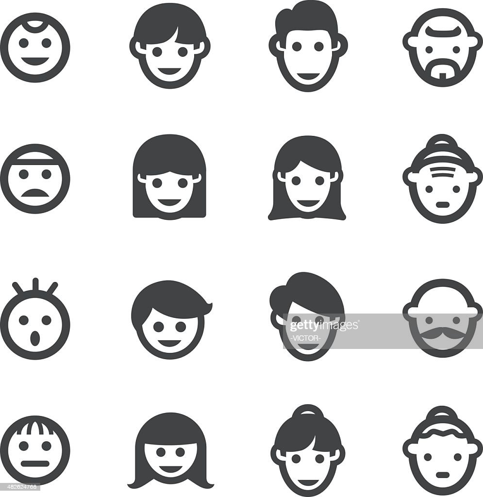 Growth, Generation and Face Icon - Acme Series : Stock Illustration