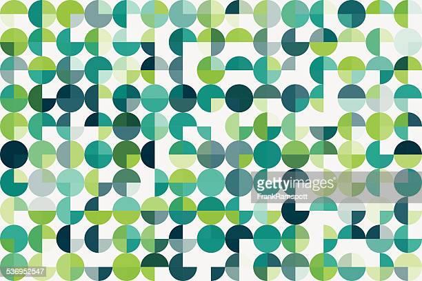 ilustraciones, imágenes clip art, dibujos animados e iconos de stock de crecimiento geométricas circle pie el patrón horizontal - verde color