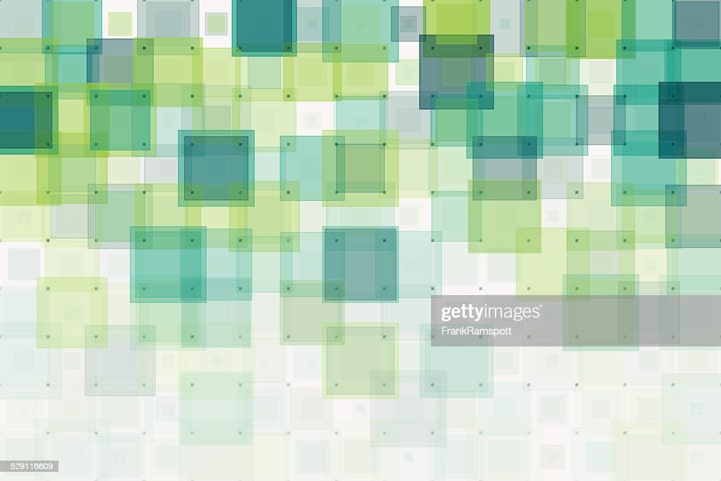 Growth Geometric Squares Pattern : Illustrationer