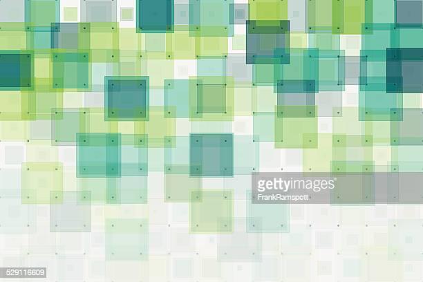 Wachstum, geometrische Quadrate Muster
